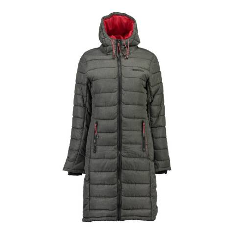 Geographical Norway Women's Grey Aroma Lady Long Jacket