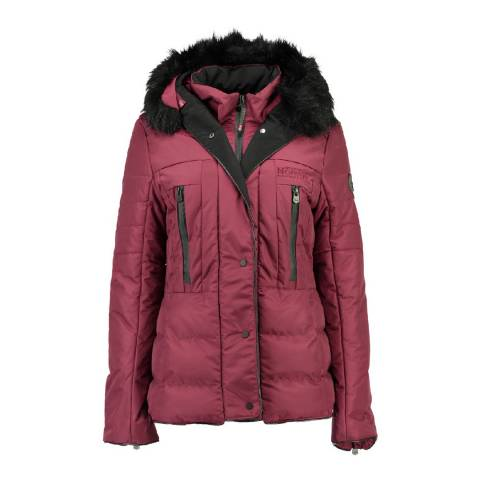 Geographical Norway Women's Burgundy Dionysos Parka