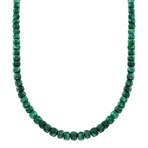 Liv Oliver Emerald Faceted Necklace