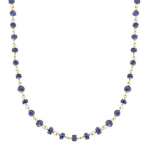 Liv Oliver Gold Sapphire Necklace