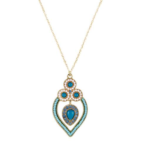 Liv Oliver Gold/Turquoise Necklace