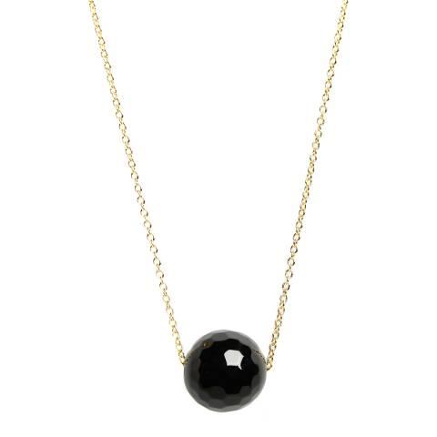 Liv Oliver Gold Onyx Necklace