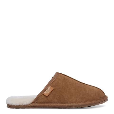 Fenlands Sheepskin Men's Chestnut Sheepskin Mule Slipper