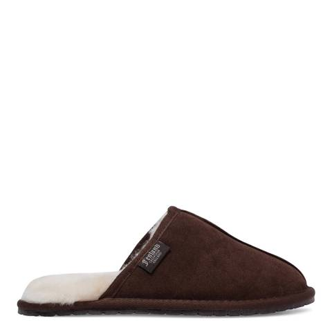 Fenlands Sheepskin Men's Brown Sheepskin Mule Slipper