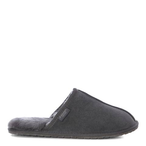 Fenlands Sheepskin Men's Grey Sheepskin Mule Slipper