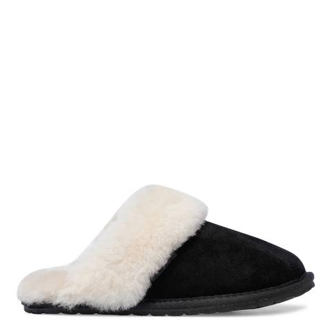 Fenlands Sheepskin Women's Black Sheepskin Mule Slipper