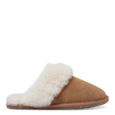 Fenlands Sheepskin Women's Chestnut Sheepskin Mules slipper