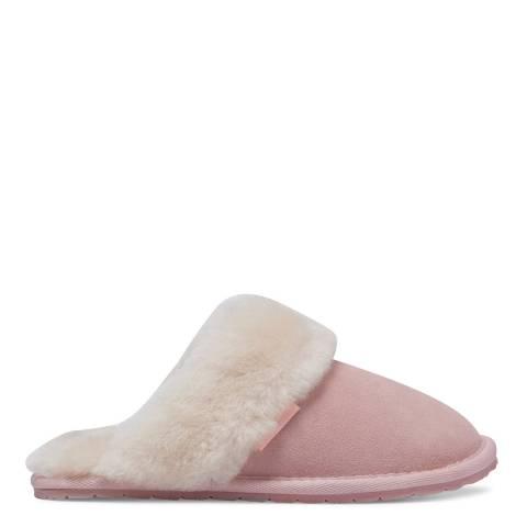 Fenlands Sheepskin Women's Pink Sheepskin Mules
