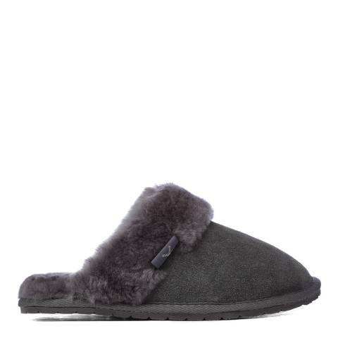 Fenlands Sheepskin Women's Grey Sheepskin Mule Slipper