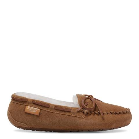 Fenlands Sheepskin Women's Chestnut Sheepskin Moccasin Slipper