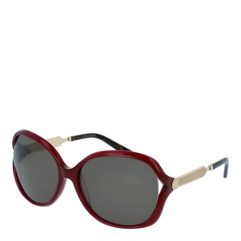 Gucci Women's Burgundy Sunglasses 60mm