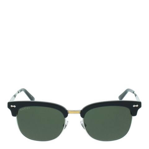 Gucci Unisex Black/Silver Sunglasses 52mm