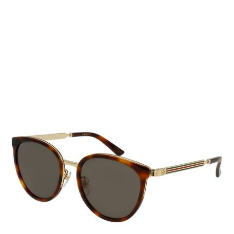 Gucci Women's Brown/Gold Sunglasses 56mm