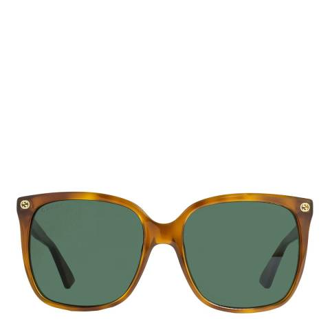 Gucci Women's Brown Sunglasses 57mm