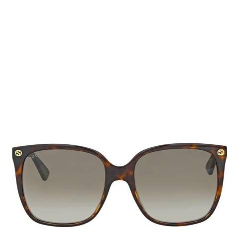 Gucci Women's Brown Sunglasses 57mm