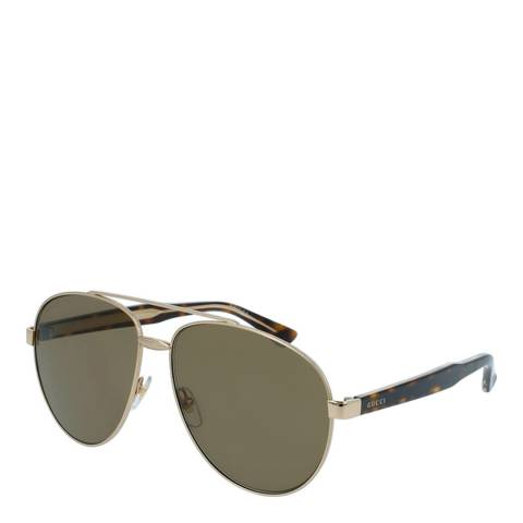 Gucci Unisex Gold Sunglasses 61mm
