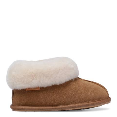 Fenlands Sheepskin Kids Chestnut Bootie Slipper