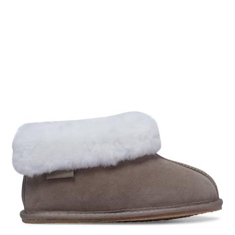 Fenlands Sheepskin Kids Light Grey Bootie Slipper