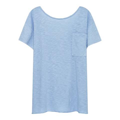 American Vintage Blue Three Quarter Length T-Shirt