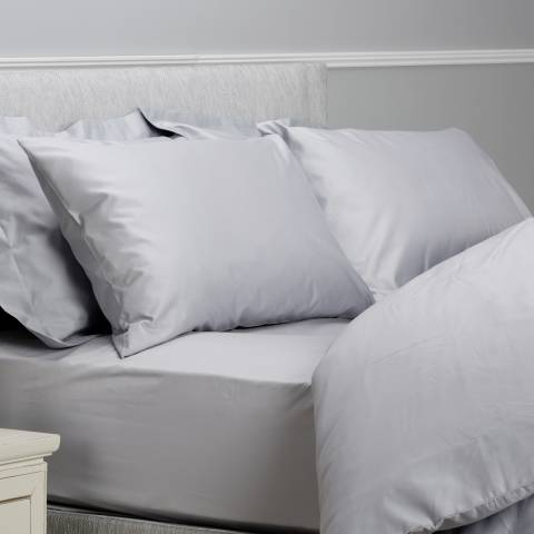 The White Room 400TC Double Fitted Sheet, Silver