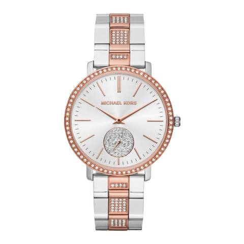 Michael Kors Women's Rose Gold/Silver Jaryn Watch