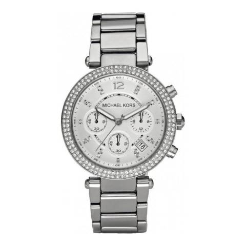 Michael Kors Women's Silver Parker Watch