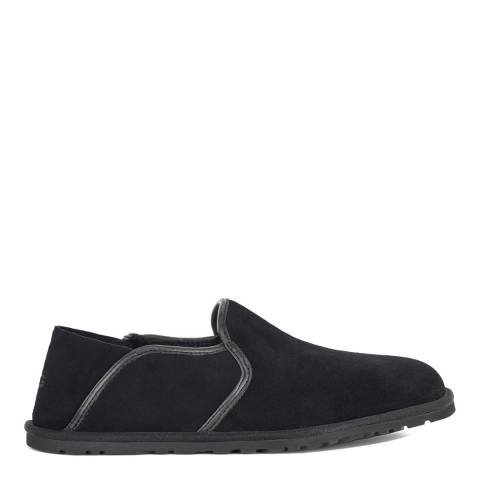 UGG Men's Black Suede Cooke Slipper