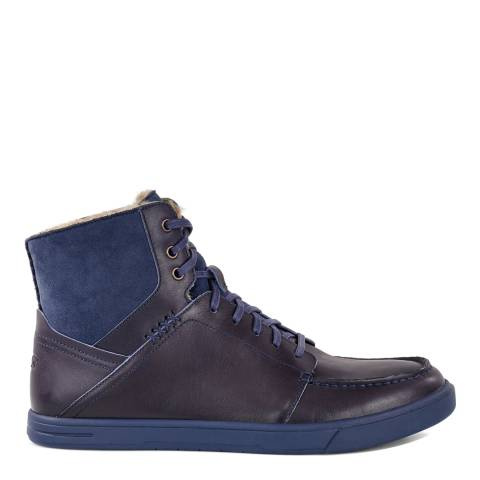 UGG Men's Navy Leather Pressly Boot