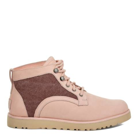 UGG Women's Rose Quartz Canvas Bethany Lace Up Sheepskin Ankle Boot