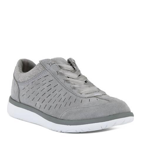 UGG Women's Grey Suede Victoria Sneakers