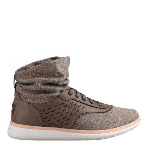 UGG Women's Mole Leather Isaly Sneaker
