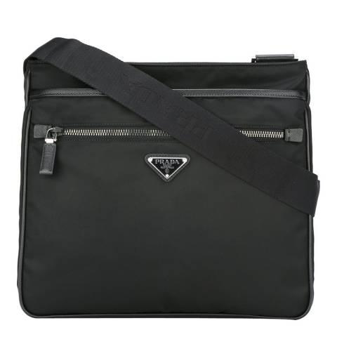 Prada Men's Black Classic Messenger Bag