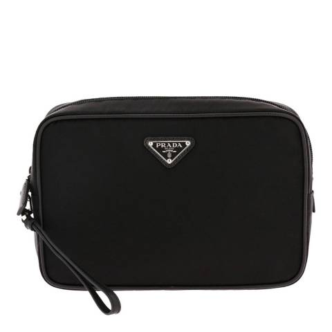 Prada Men's Black Nylon Wash Bag
