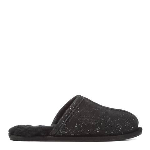 UGG Black Metallic Sheepskin Sparkle Pearle Mule Slippers