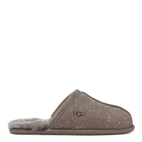 UGG Grey Sheepskin Sparkle Pearle Mule Slippers