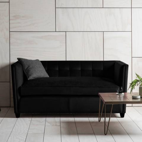 Gallery London 2 Seater Sofa in Brussels Black