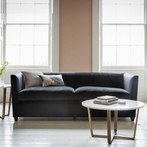 Gallery London 3 Seater Sofa in Brussels Black
