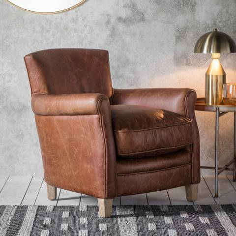 Gallery Mr. Paddington Chair Vintage Brown Leather