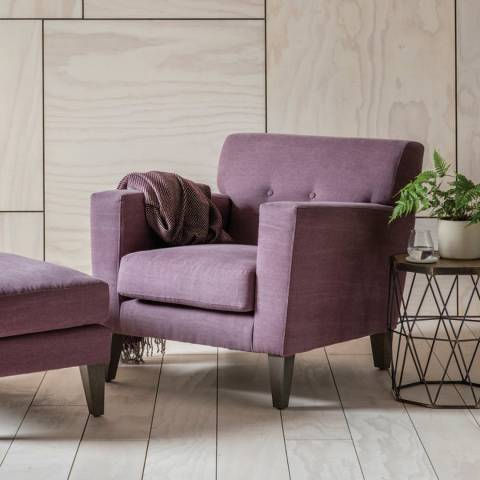Gallery Shoreditch Armchair in Ranch Wine Red