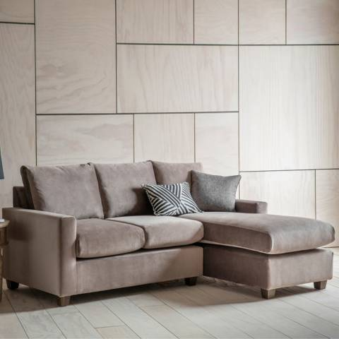 Gallery Stratford Left Hand Chaise Sofa in Brussels Taupe