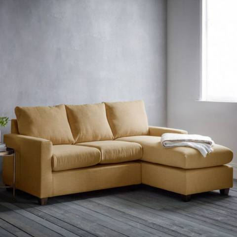 Gallery Stratford Left Hand Chaise Sofa in Field Ochre