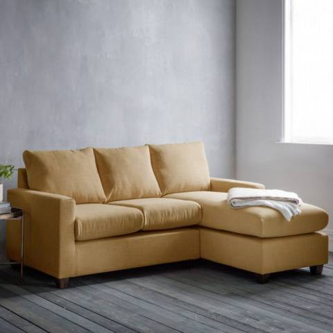 Gallery Stratford Right Hand Chaise Sofa in Field Ochre