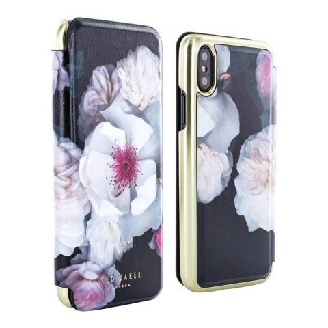 Ted Baker Chelsea Black Nalibise iPhone X Folio Case