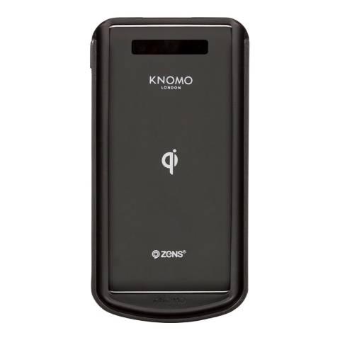 Knomo Black Dropgo Wireless Powerbank
