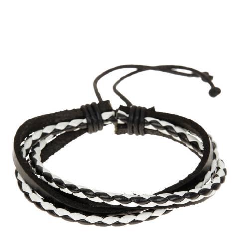 Stephen Oliver White/Black Multi Row Bracelet