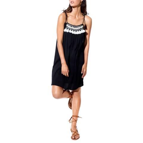 Seafolly Black Shell Trim Swing Dress