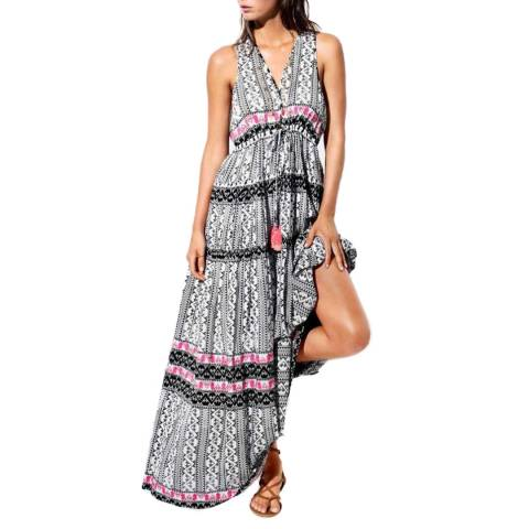 Seafolly Black/Multi Embroidered Print Maxi