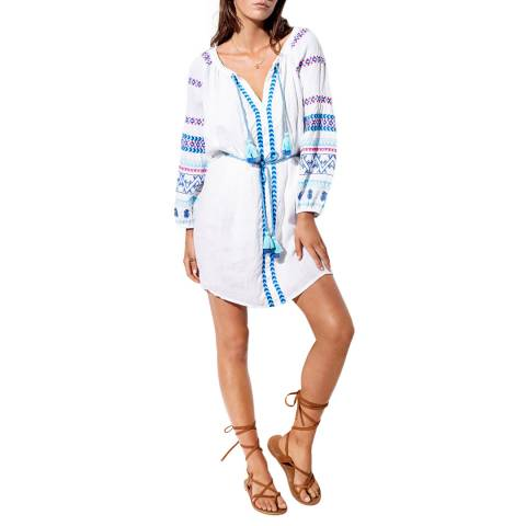 Seafolly White Folk Embroidered Dress