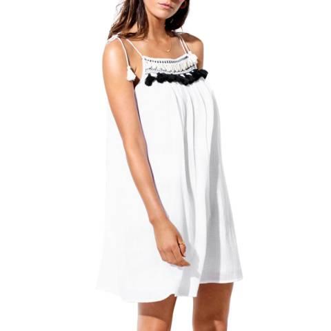 Seafolly White/Black Shell Trim Swing Dress