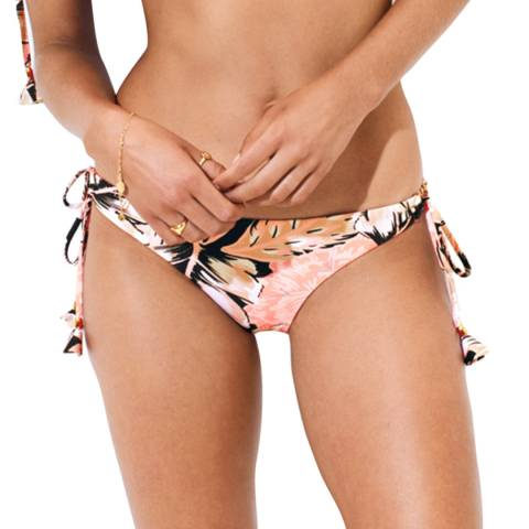 Seafolly Black/Pink Brazilian Loop Tie Side